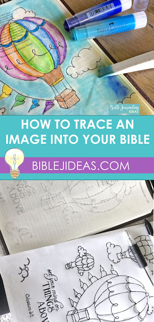Transfer an Image into Your Bible: Hot Air Balloon