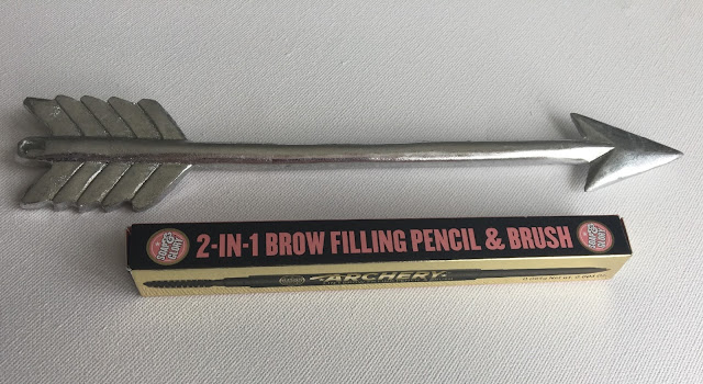 Soap and Glory Archery brow pencil with arrow on white background