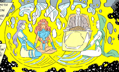 Charles Xavier, Mariposa Mental, Jean Grey y Dragón Lunar