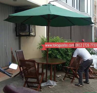 Tenda Payung Jati Jepara Meja