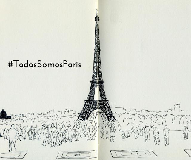 Torre Eiffel dibujada por F. en 2009
