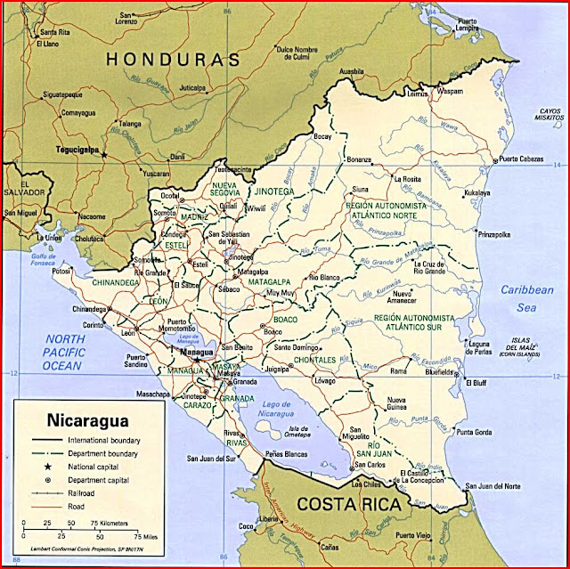 Gambar Peta politik Nikaragua 1997