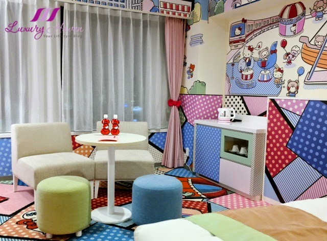 keio plaza hotel tama hello kitty town room