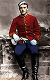 Frederick Augustus Bagley, colorized by Brenda Wilbee, his great-granddaughter