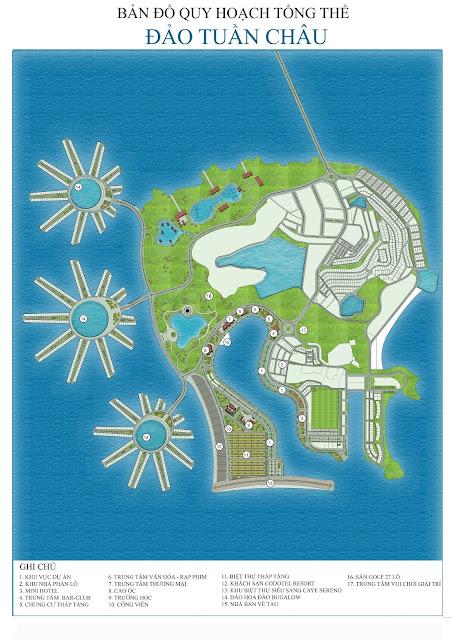 Bản đồ quy hoạch tổng thể đảo Tuần Châu