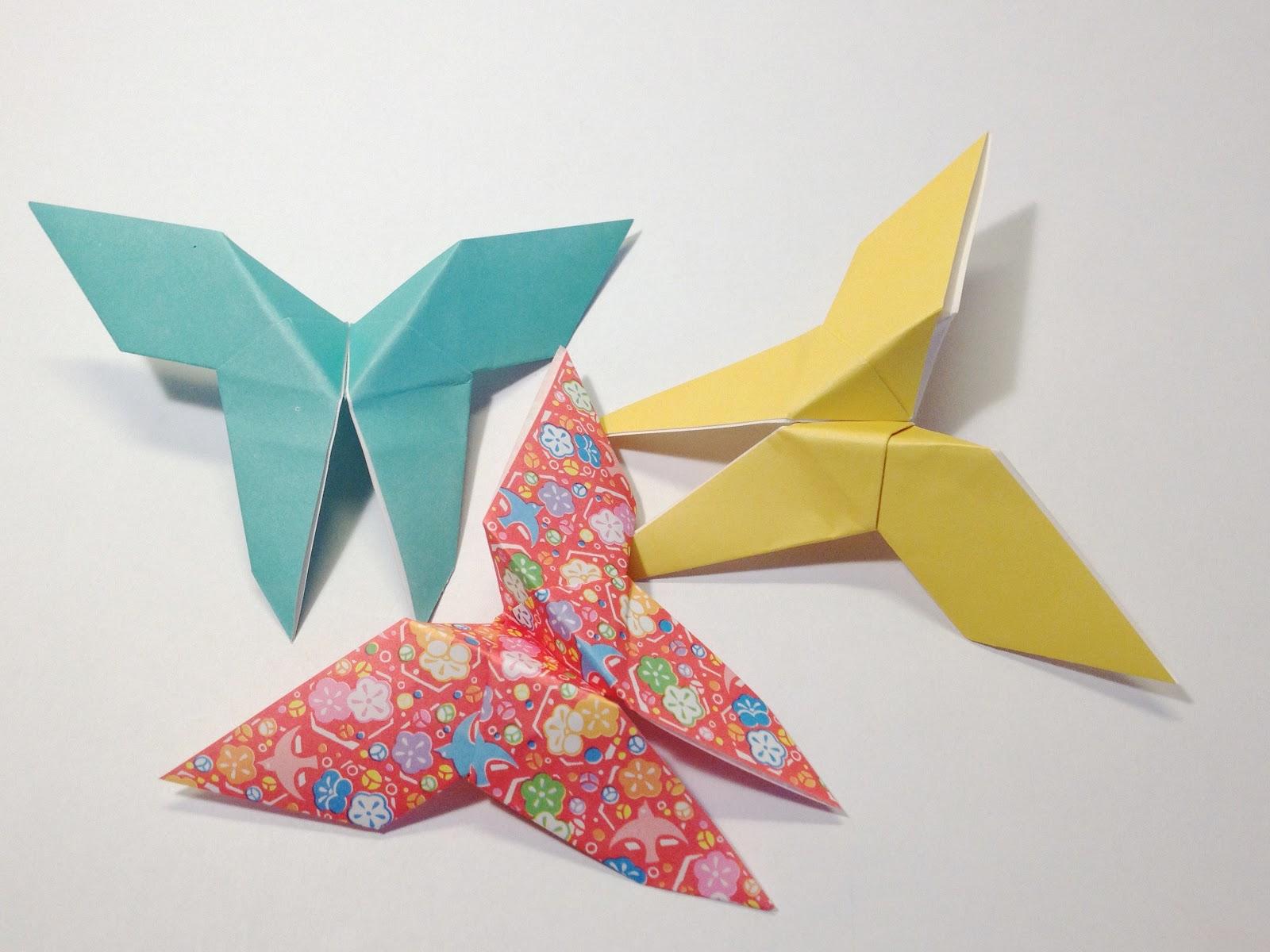 schaeresteipapier origami schmetterlinge. Black Bedroom Furniture Sets. Home Design Ideas