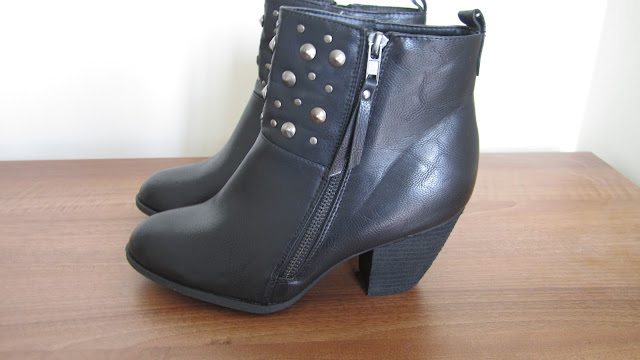 Primark Black Studded Heeled Ankle Boots
