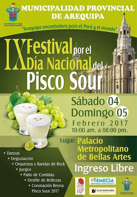 Festival del pisco sour Arequipa