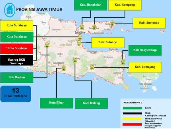 Lokasi Tes Cat BKN Propinsi Jawa Timur