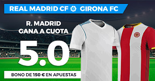 Paston Megacuota Liga Santander: Real Madrid vs Girona 18 marzo