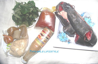 Some of  the Ingredients used in making Uziza soup