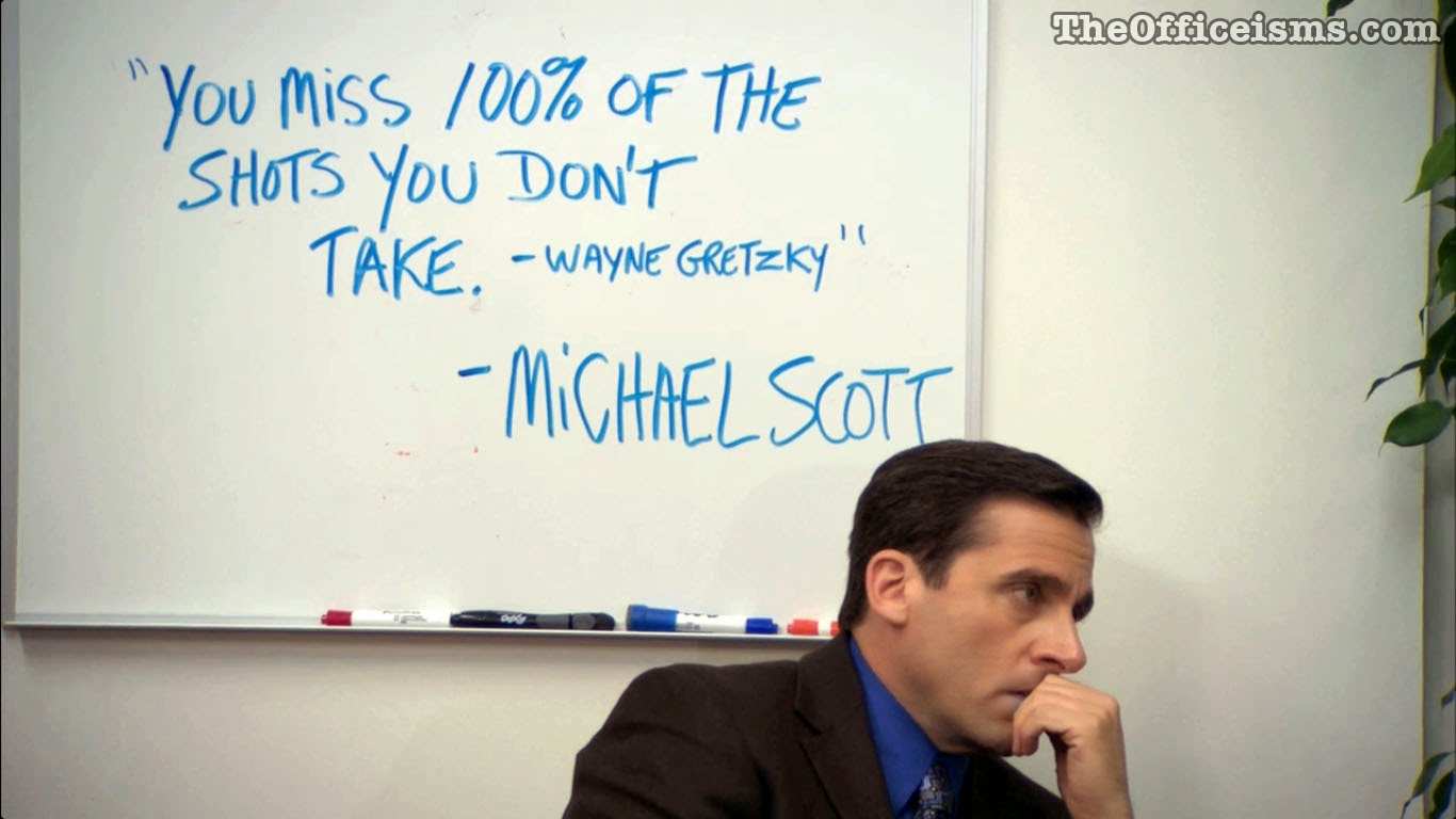 Michael Scott quotes Wayne Gretzky to Make Mondays NOT Suck
