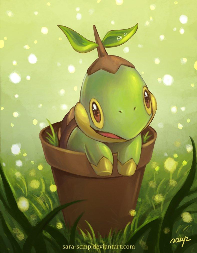 Pokémon By Review 387 389 Turtwig Grotle Torterra