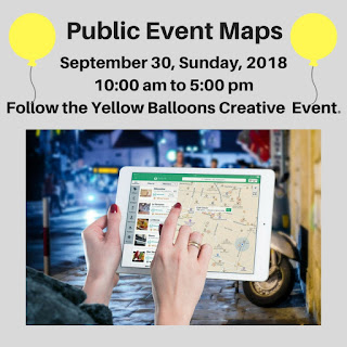 Follow the Yellow Balloons Creative Event MAPS
