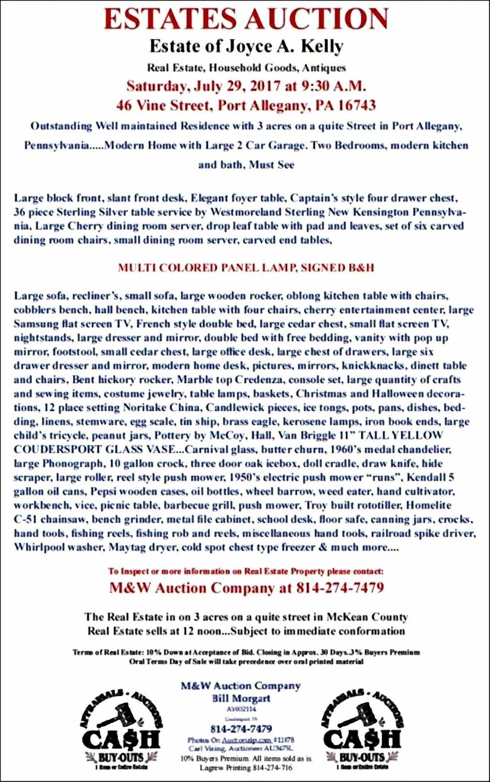 Joyce A. Kelly Estate Auction