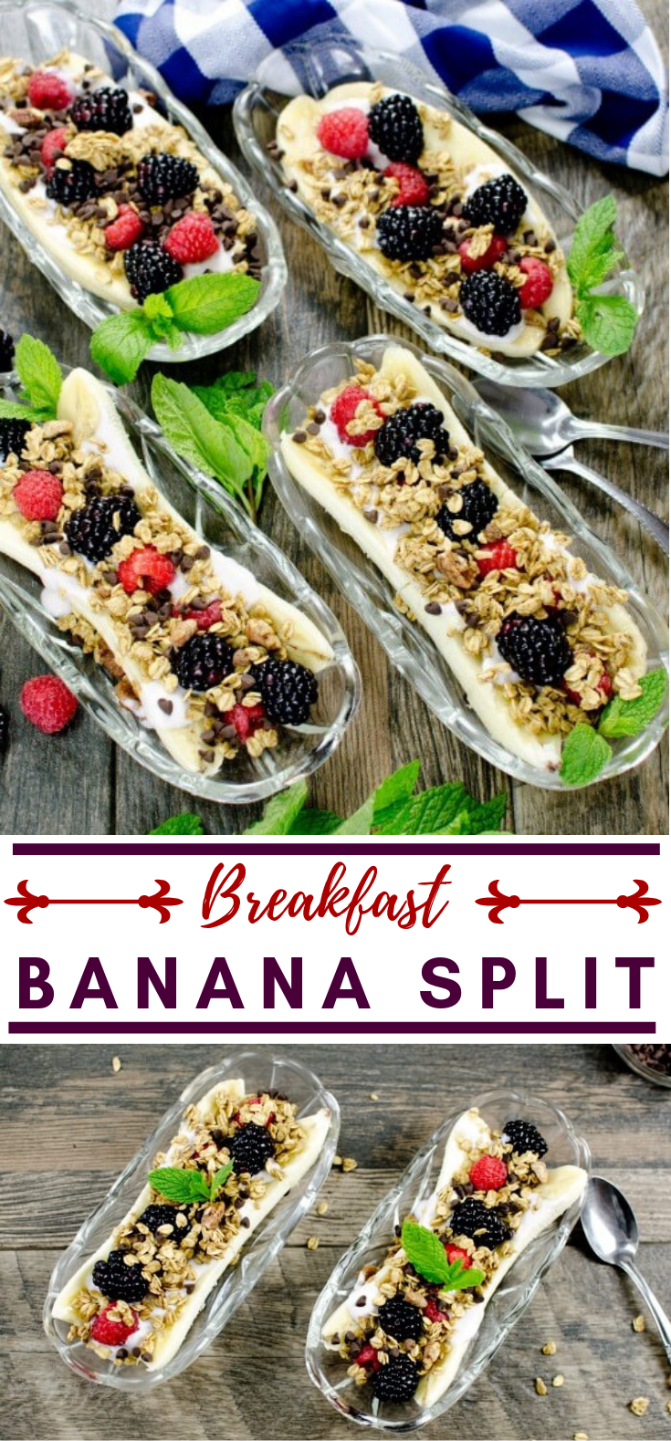 BREAKFAST BANANA SPLIT #healthy #homemade