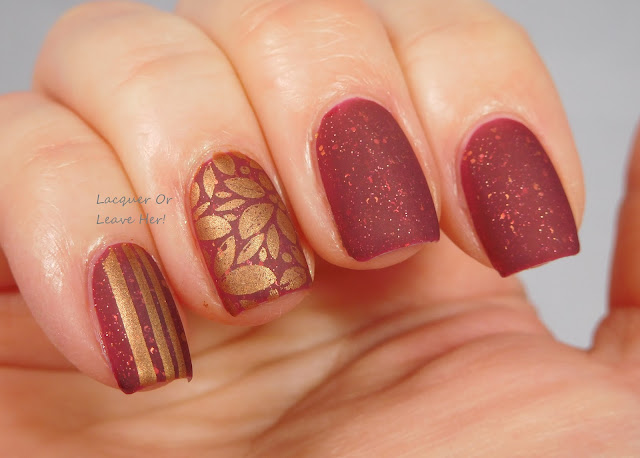 Winstonia Holly Jolly Christmas over Spellbound Nails Merry & Bright + Girly Bits Bronze Goddess