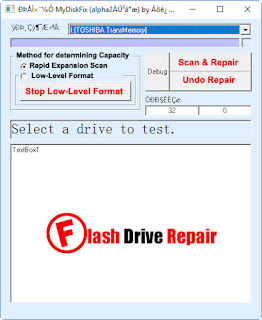 How to fix Fake USB flash disk with MyDiskFix ?