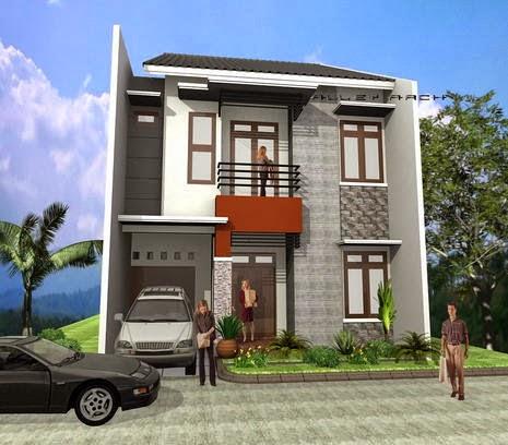 MODEL RUMAH MINIMALIS SEDERHANA Denah dan Desain Rumah Tingkat Minimalis Terbaru 2014