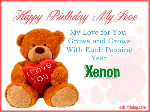 Xenon Happy Birthday My Love