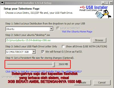 Persiapan awal instal linux ke flashdisk