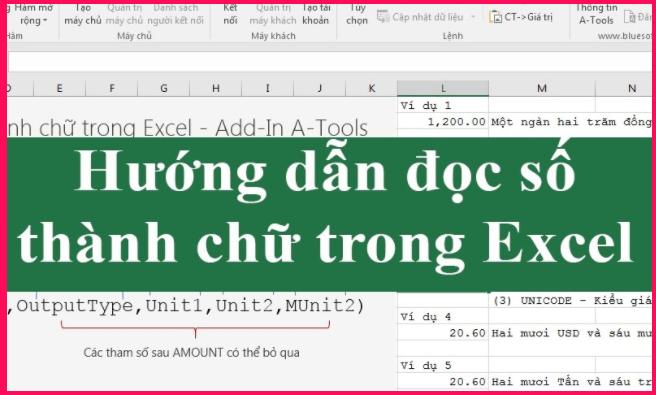 Hướng dẫn đổi số thanh chữ trong Excel