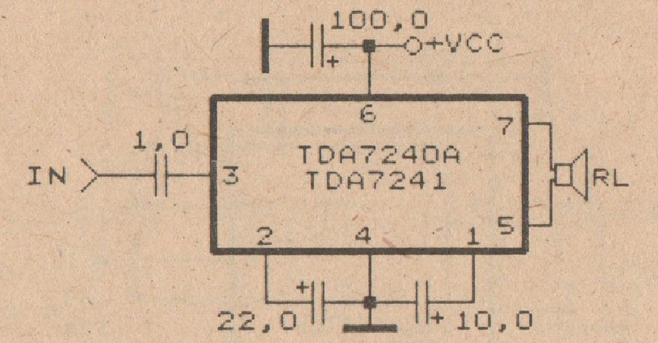 tda7240 tda7241 amplifier schematic electronic circuit rh elcircuit com Voltage Amplifier Schematic Amplifier Diagram
