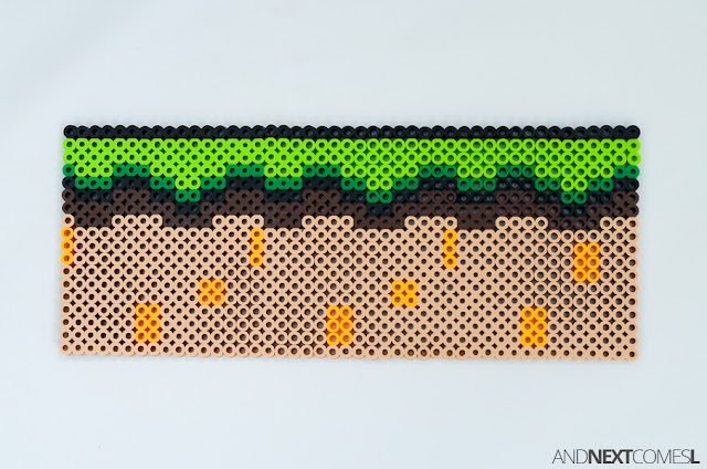 Super Mario World landscape perler bead craft from And Next Comes L