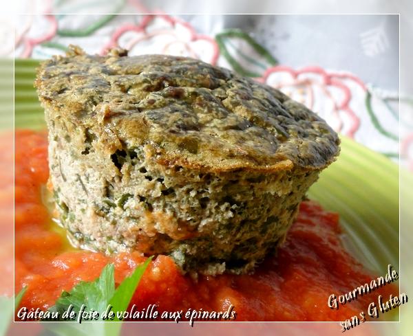 Gâteau de foie de volailles aux épinards