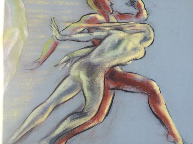 Quirk Artists Pastel  Quirk Drawing  Adam and Eve expelled from the Garden of Eden