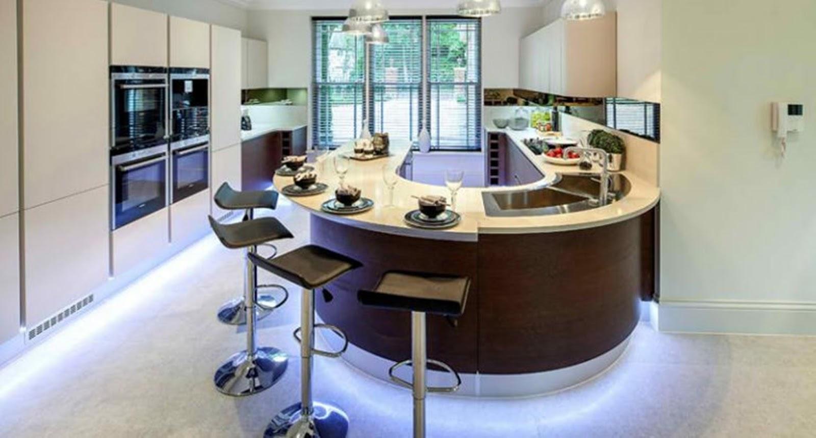 Minha Casa No Barranco 30 Cozinhas Modernas Com Ilha Curvada