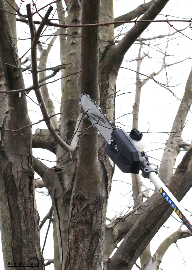 Pole Saw attachment for Milwaukee Quik-Lok system - cutting tree branch