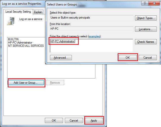 Admin | Programming | Articles, FAQs, Scripts: Set Logon As