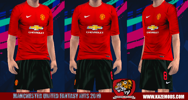 Manchester United Fantasy Kits 2019 For PES PSP (PPSSPP