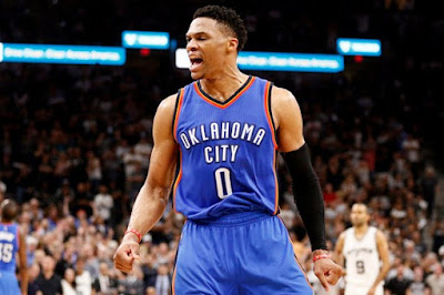 Russell Westbrook, a left-handed with the most expensive of all time NBA Contract