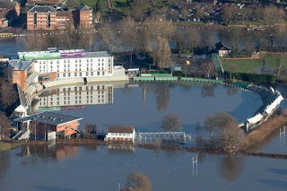 Worcestershire County Cricket Club underwater