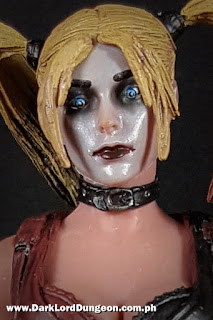 NECA Batman Arkham City Harley Quinn Action Figure facial close up