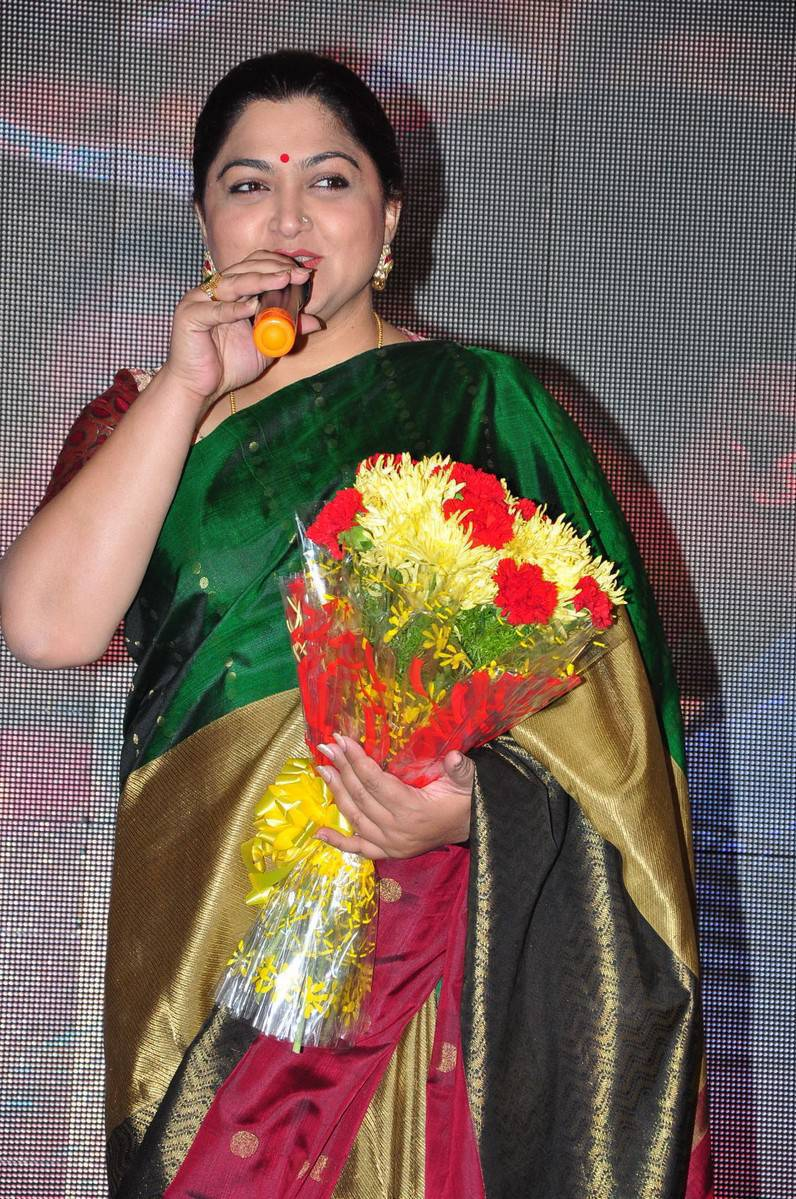 Khushboo Latest Cute Photos In Colorful Green Saree