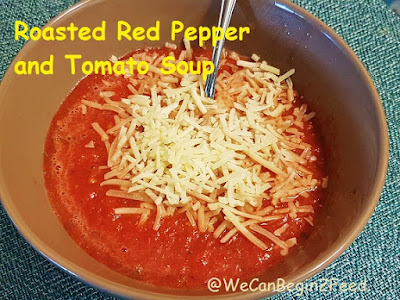 Roasted Red Pepper and Tomato Soup by @WeCanBegin2Feed