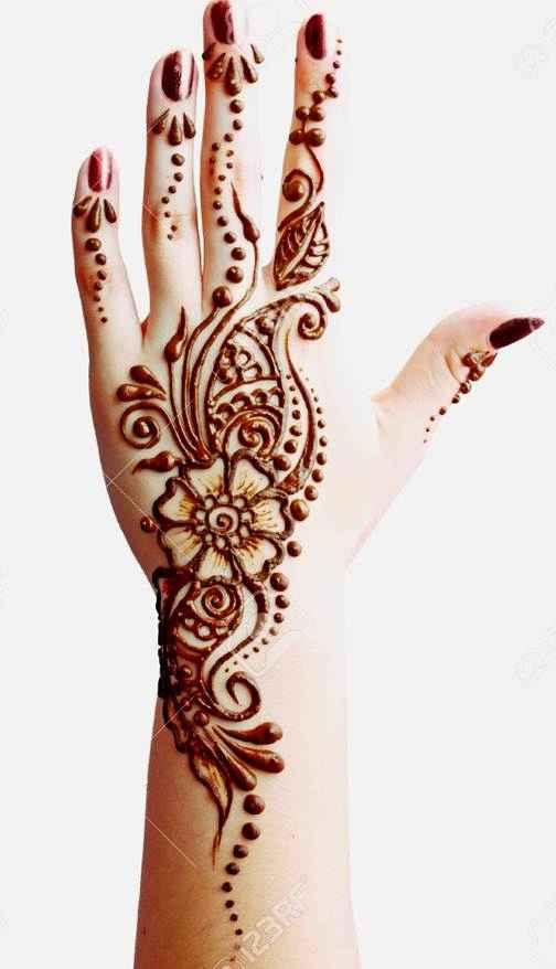 Gambar Henna Simple Untuk Pemula Di Tangan