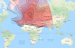 Beam Coverage Satellite Eutelsat 7B 7.0°E KU Band