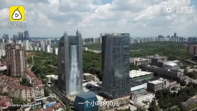 Artificial Waterfall Pours Out Of Guiyang Skyscraper 6