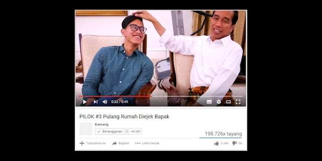 Kata Jokowi, Cukuran Kaesang Mirip Batok