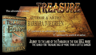 3-D book of Treasure of Egypt with golden treasure map