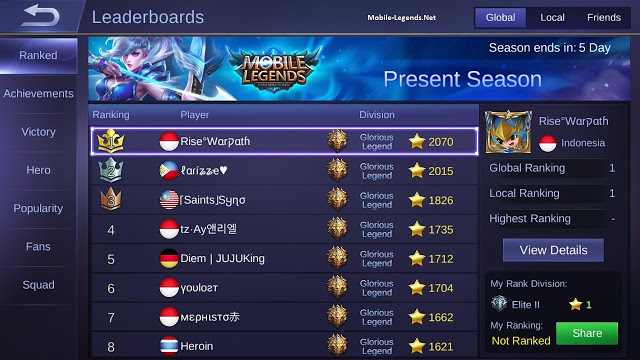 Simbol Unik Untuk Nickname Mobile Legends - Limit Kere