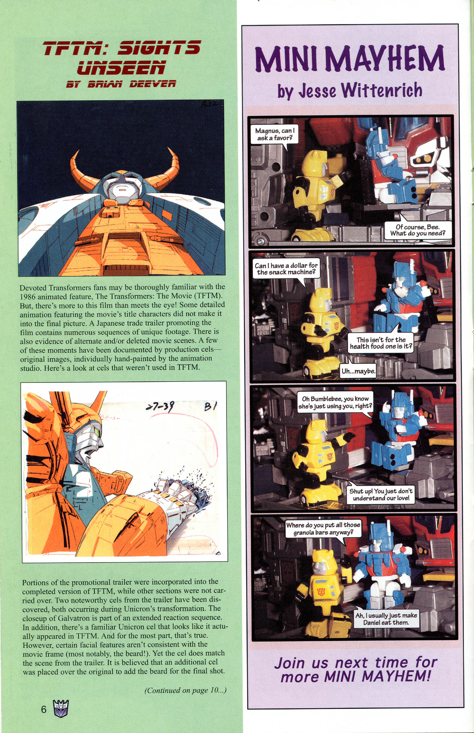 Read online Transformers: Collectors' Club comic -  Issue #12 - 6