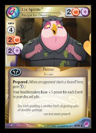 My Little Pony Lix Spittle, Recipe for Disaster Seaquestria and Beyond CCG Card
