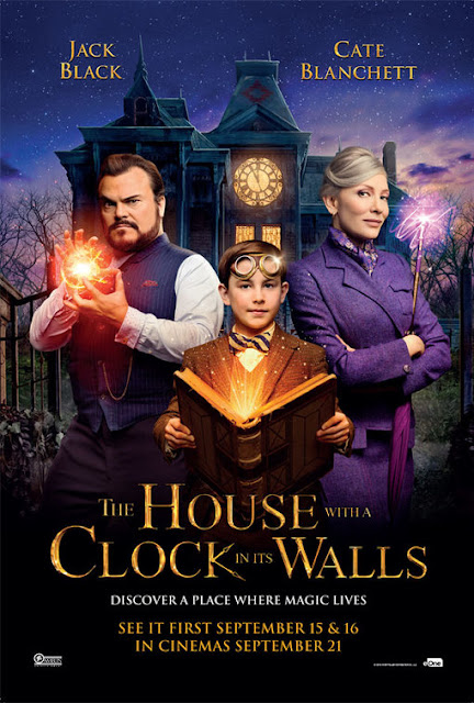 house with a clock in its walls poster