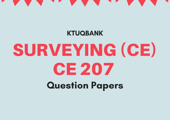 Surveying | CE207 | Question Papers (2015 batch)