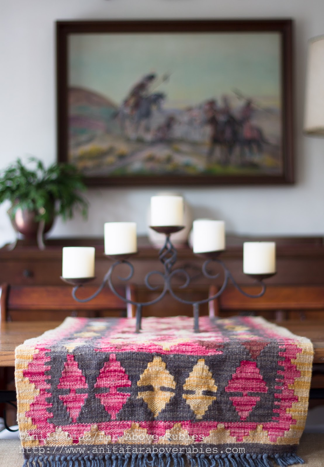 Bohemian Chic In The Winter Dining Room
